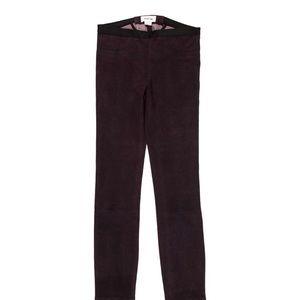 Helmut Lang purple leather pants